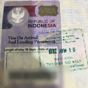 インドネシア入国(VISA)