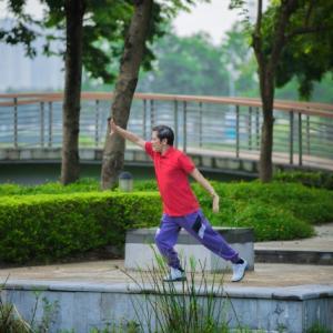 【太極拳をする】台北の公園で勝手に参加