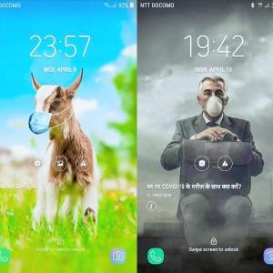 【SAMSUNG】インド携帯のロックスクリーンが面白いので公開中