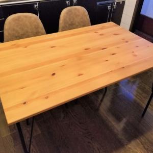 【簡単DIY】IKEAのダイニングテーブル レールハムンの脚をアイアン調に交換してみた