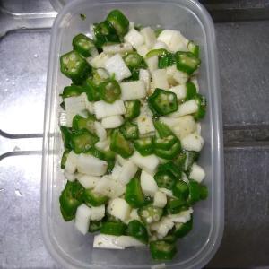 夏用簡単お惣菜「冷凍オクラと長芋の和え物」……もしかしれこれだけで夏バテせず生きられるかも?