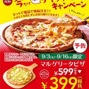 テイクアウトガストピザの「自由の味」……キャンペンーン終了、ご馳走様でした