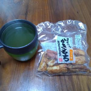 素朴でおいしかった「かき餅」……実家でお土産に貰いました、ありがとうー♪