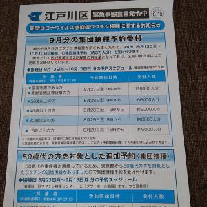 江戸川区のワクチン集団接種・予約できました! ……私が使って良いのかなー?(汗)