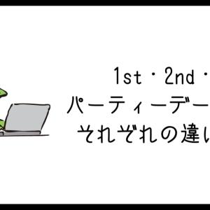 1st・2nd・3rdパーティーデータとは?それぞれの違いを解説