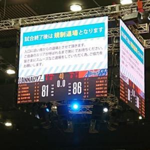 2020年10月25日(日)京都ハンナリーズvs新潟アルビレックスBB