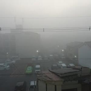 霧、霧、霧・・・・・・・・・・。
