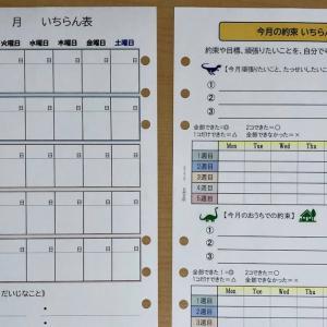 手帳の月間リフィルを使って子供が自ら予定・行動計画を立てる練習をしよう!