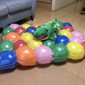 【育児】100均で簡単手作りおもちゃ!大人も乗れる?!風船ベッドとは!