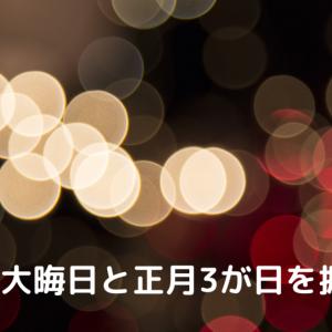 【雑記】大晦日と正月3が日を振り返る