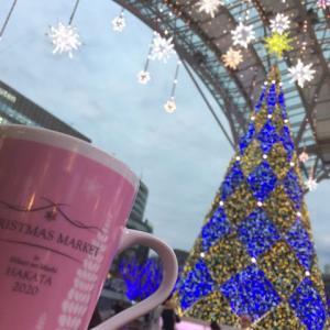 博多駅とクリスマスイルミネーション