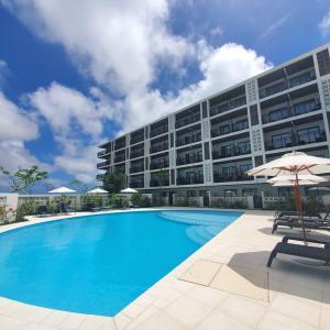 宮古空港から徒歩で行ける「ホテル・トリフィート宮古島リゾート」宿泊記 2021.3オープンしたばかりのプールもあるリゾートホテル