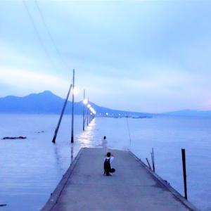 「海に消える道」長部田海床路に昼夕2回行ってみた!【熊本県】