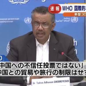 新型コロナウイルスのWHOのテドロスと中国の対応まとめ