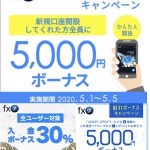 5月最新【FXGT】口座開設ボーナス!入金ボーナス等!海外FXの豪華特典