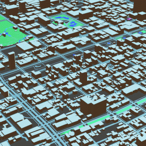 Blenderでさっぽろ雪まつりを造る-大通り会場周辺の3Dマップを生成-