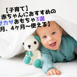 【子育て】大興奮!赤ちゃんにおすすめのカサカサおもちゃ3選【3ヶ月、4ヶ月〜使える】