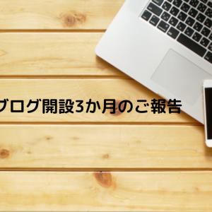 ブログ開設3か月のご報告