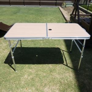 DIY キャンプ用テーブルをプチカスタマイズ