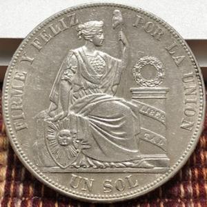 南米ペルーの金貨