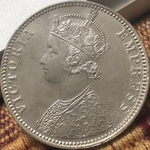 インド英国君主3代中型銀貨
