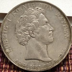 大型銀貨をたくさん発行したバイエルン国王の父