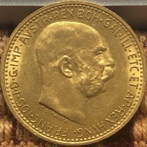 10 Corana金貨と100 Corona金貨