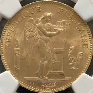 フランス第三共和政時代の金貨