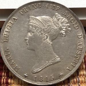 ナポレオン1世の2番目の妻の銀貨、再び