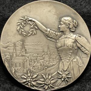 1903 Switzerland Biel Shooting Festival Medal