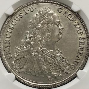 神聖ローマ帝国皇帝フランツ1世の銀貨
