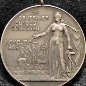 1909 German Hamburg Shooting Festival Medal