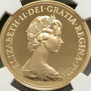 ヤング・エリザベス5ポンド金貨、PF69UCとPF70UCの価格動向