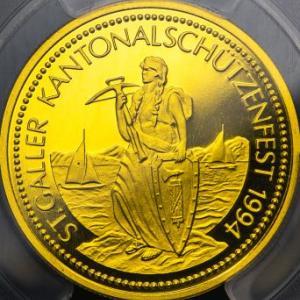 2021年7月スイス現代射撃祭記念金貨ランキング