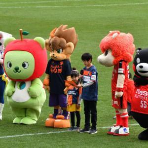 長野パルセイロ 1 - 0 ロアッソ熊本・・・(長野Uスタジアム) ☆誰もが引き分けだと思ってたロスタイム、くまもんだって・・・12月8日