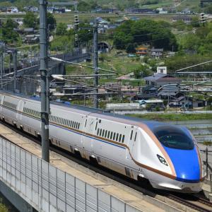再チャレンジ・佐久平駅の近くで、新幹線を撮る・・・ ☆新しい撮影ポイントも発見! さらに、しなの鉄道湘南色も。