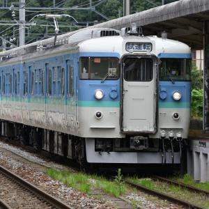 しなの鉄道 115系長野色(S15編成) 試運転を撮りました・・・戸倉駅 ☆ピカピカになってました!! 7月9日