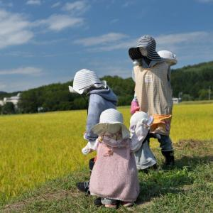 塩田平のかかし(案山子)・・・ ☆すばらしい作品を発見しました。 9月16日撮影