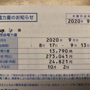 【発電実績】2020年9月