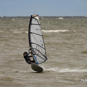 嵐がきたTabsaiビーチ:ウインドサーフィン