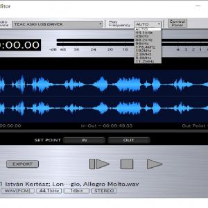 PCオーディオ高音質『TEAC Hi-ResEditor』無料DSD変換可能