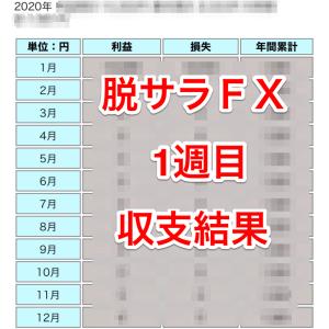 脱サラFX収支結果報告【1週目】