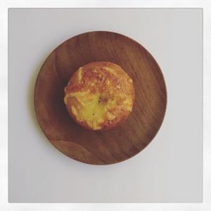 カレーチーズのベーグル