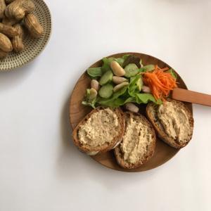 ツナとオリーブのペーストレシピと、ゆで落花生