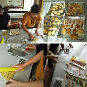 安城市のデンパークでクッキー作り