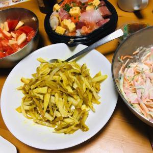 野菜たっぷり夕食!