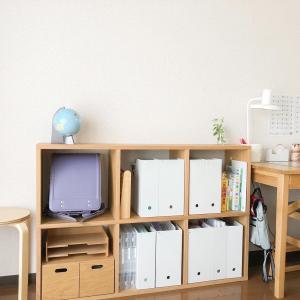 ちょこっと学習机の収納を見直しました。