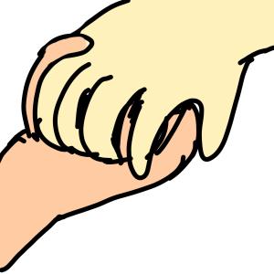 手を握ることの安心