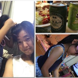 夏休み最終日 ママのビール忘れてる