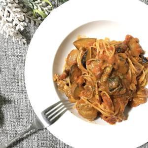 旨味たっぷり!なすとチキンのチーズ入りトマトソーススパゲッティの作り方